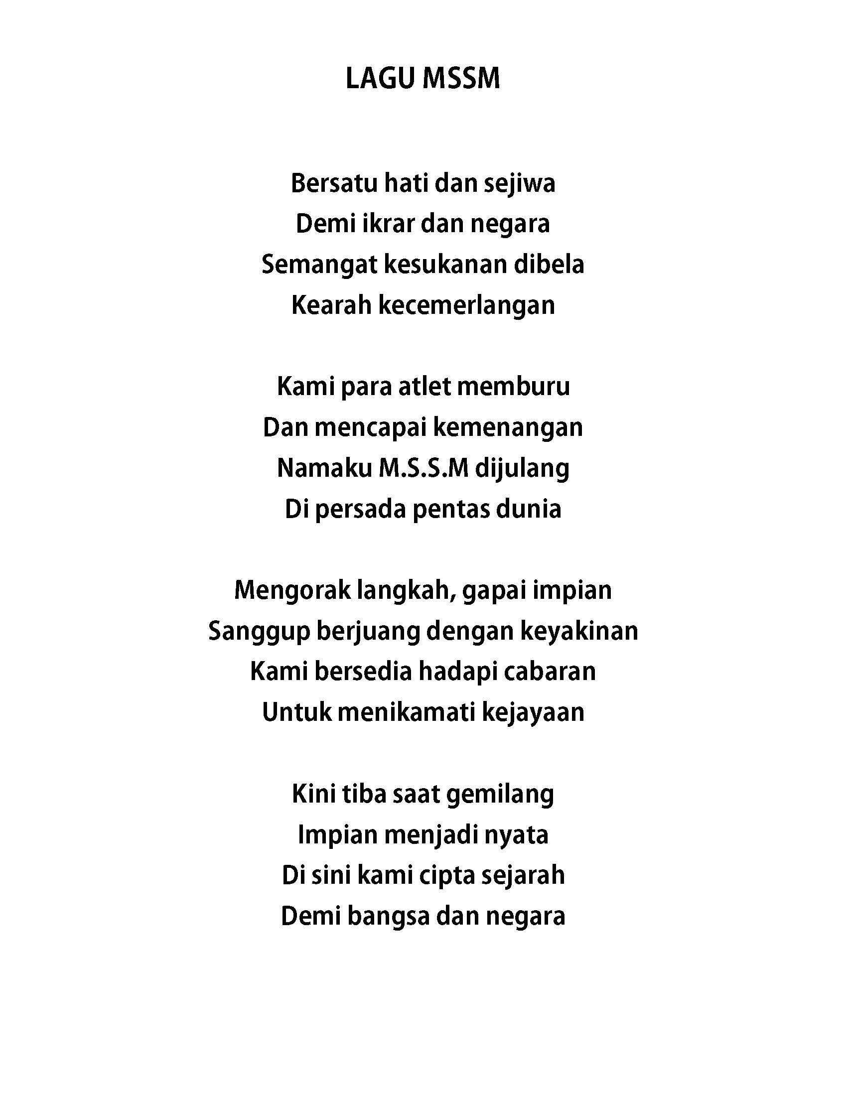 lagu mssm