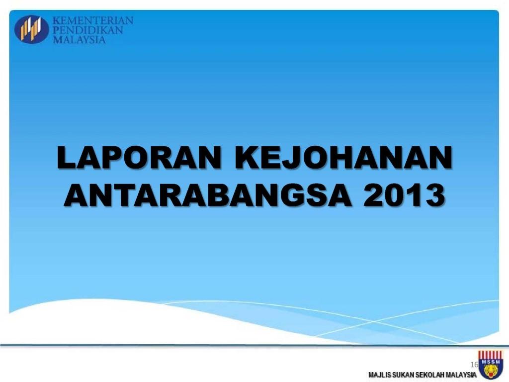 Analisis Kejohanan MSSM 2013_16