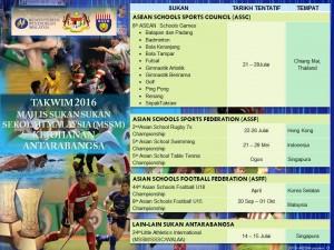 2_Takwim Majlis Sukan Sekolah Malaysia 2016-Antarabangsa